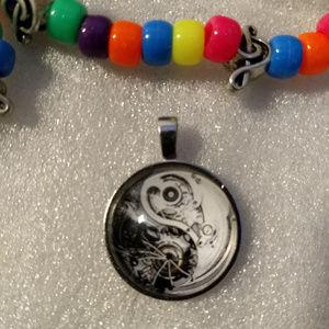 YIN YANG GEARS - Necklace Pendant - Steampunk Zen